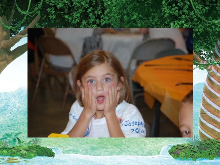 Kids looking surprised