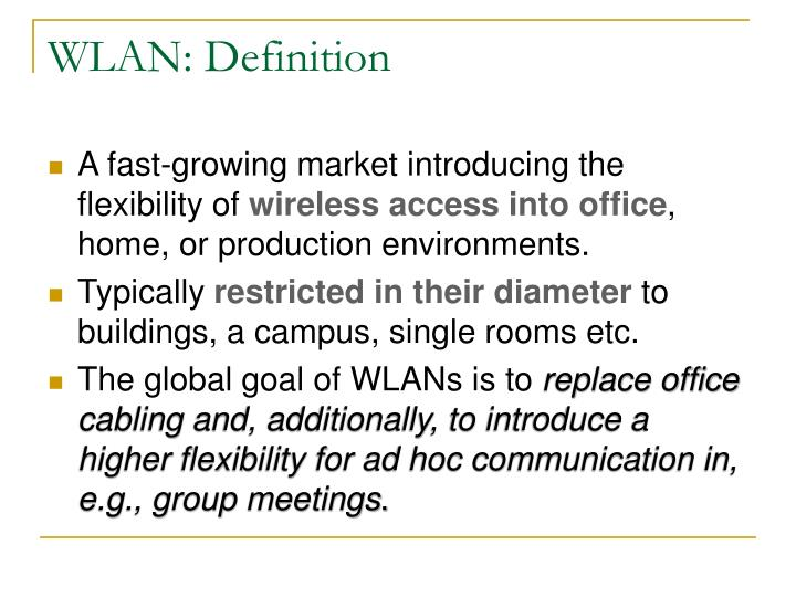 WLAN: Definition