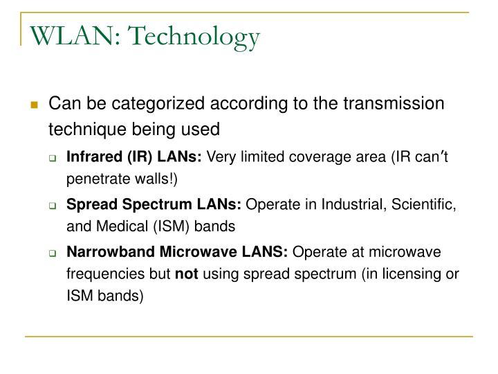 WLAN: Technology
