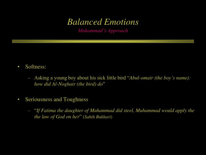Balanced Emotions