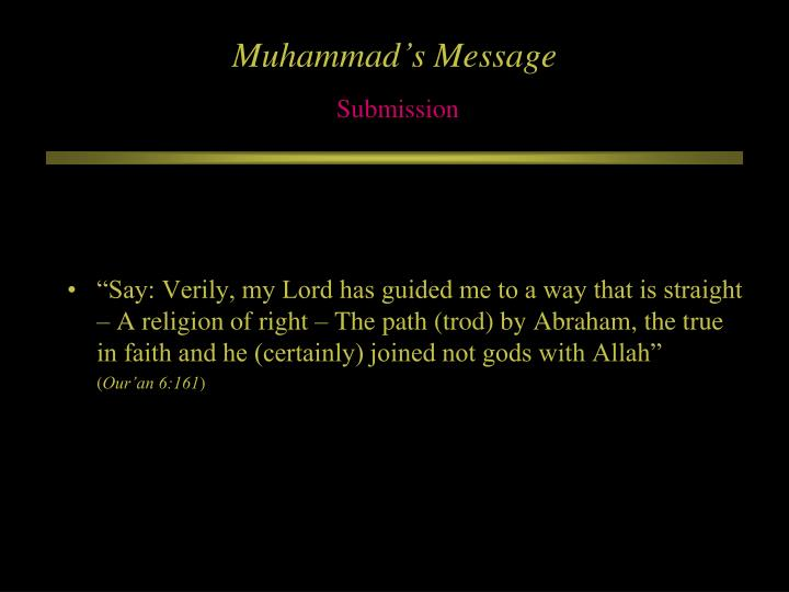 Muhammad's Message