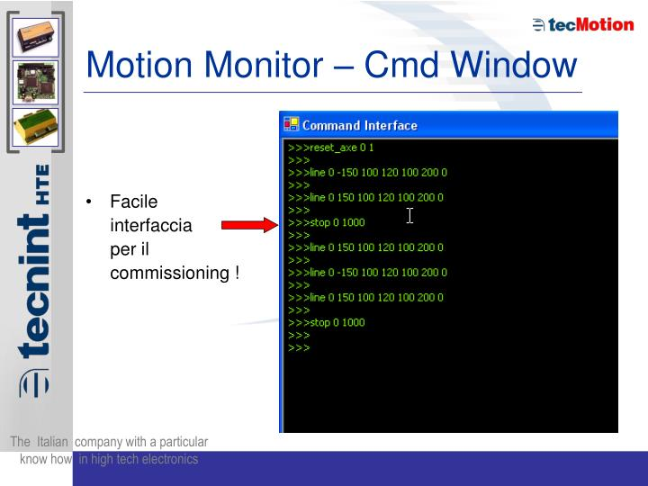 Motion Monitor – Cmd Window