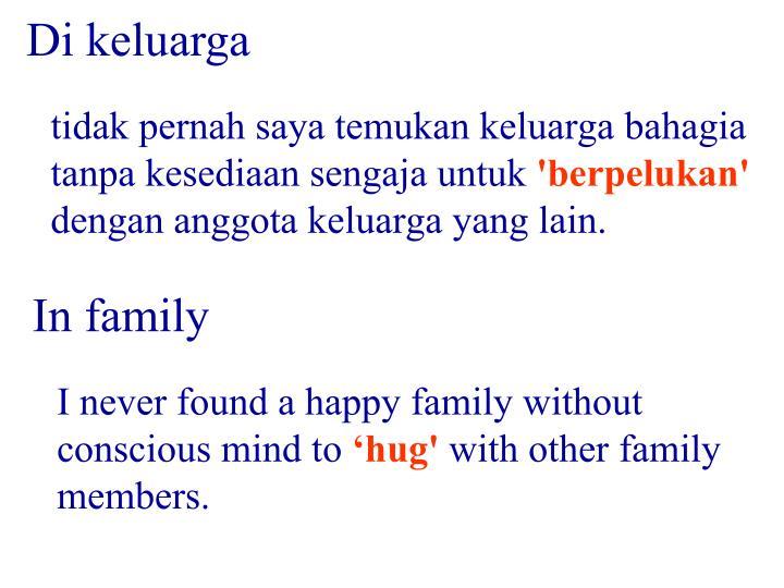 Di keluarga