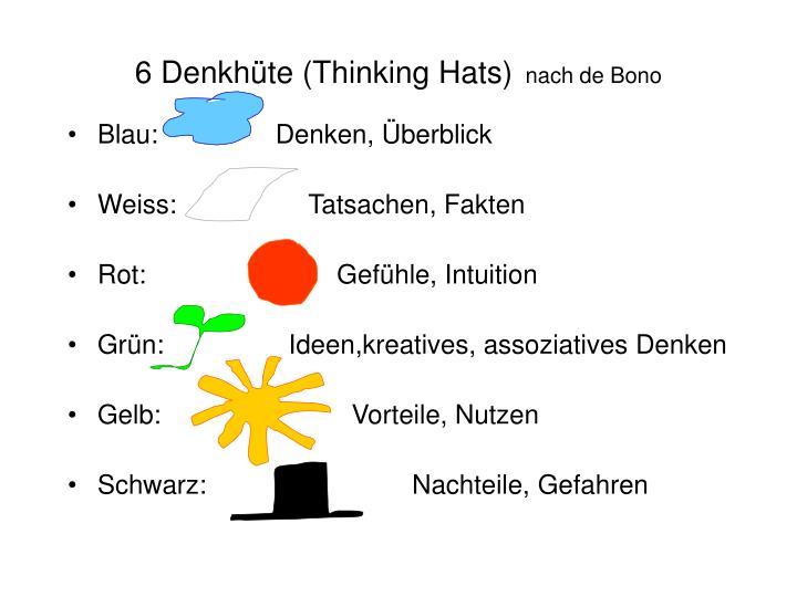 6 Denkhüte (Thinking Hats)