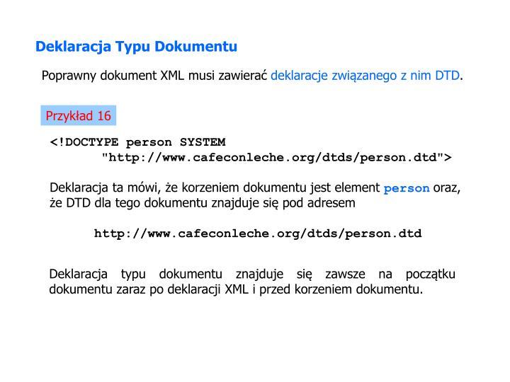Deklaracja Typu Dokumentu