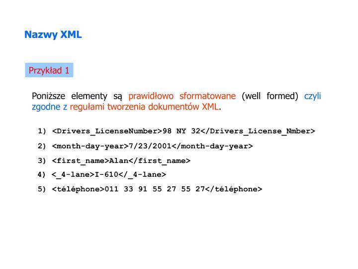 Nazwy XML