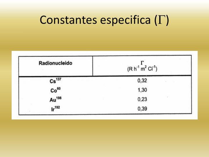 Constantes especifica (