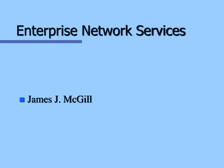 Enterprise network services