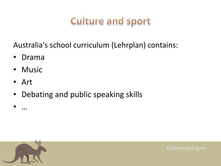 Culture and sport