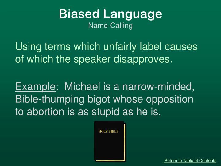 Biased Language