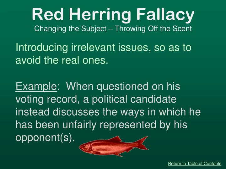 Red Herring Fallacy