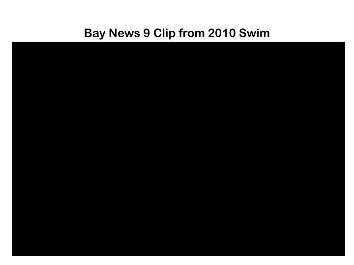 Bay News 9 Clip from 2010 Swim