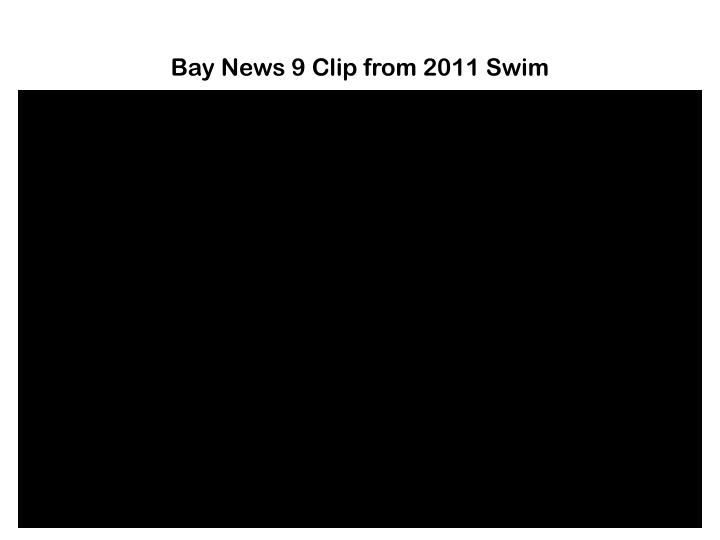 Bay News 9 Clip from 2011 Swim