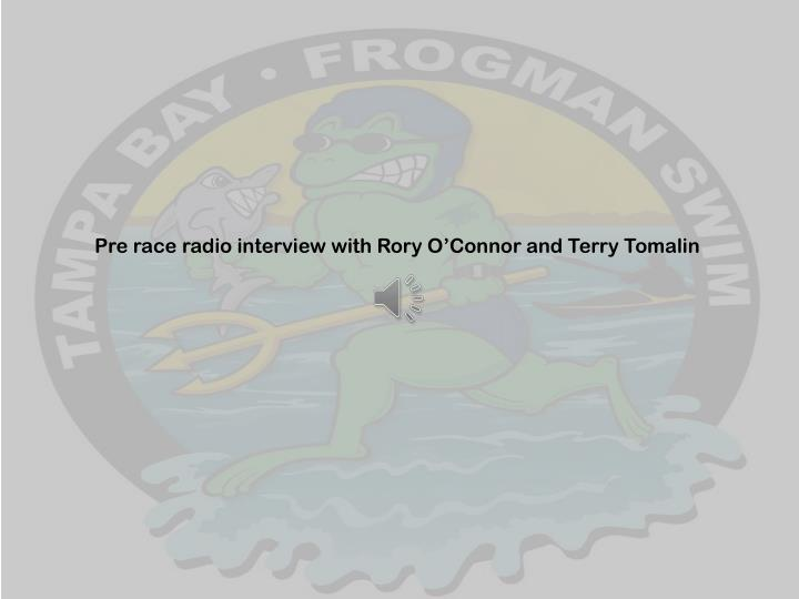 Pre race radio interview with Rory O'Connor and Terry Tomalin