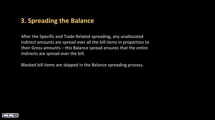 3. Spreading the Balance
