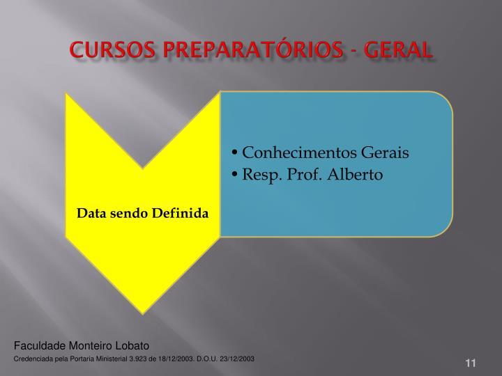 Cursos Preparatórios - Geral