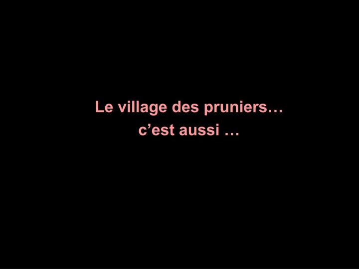 Le village des pruniers