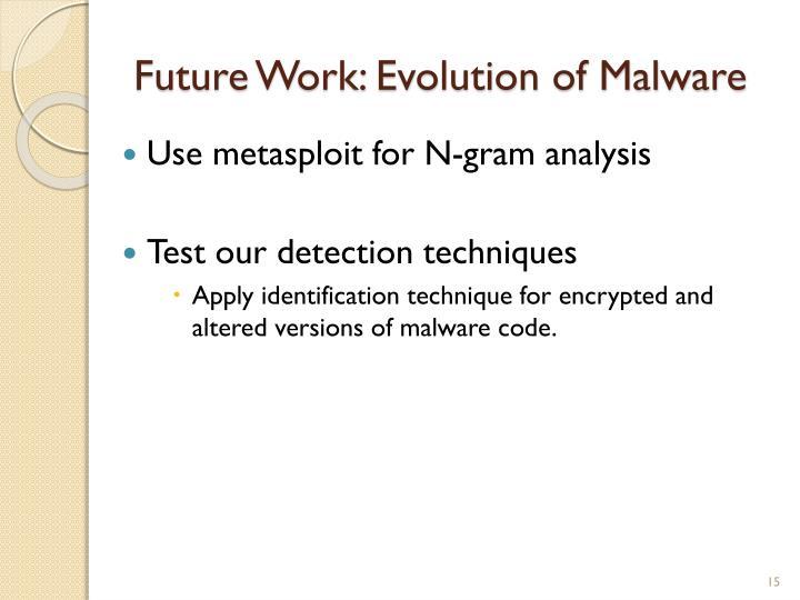 Future Work: Evolution of Malware