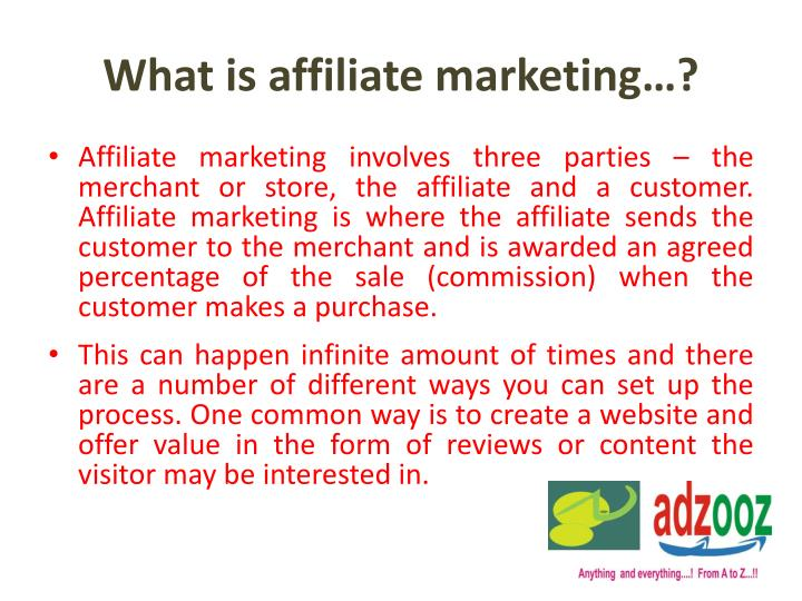 What is affiliate marketing…?