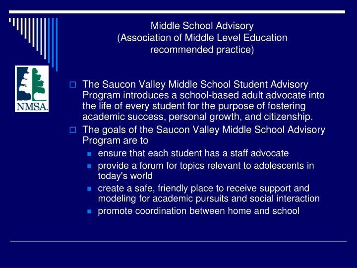 Middle School Advisory