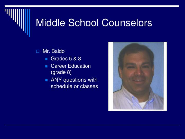 Middle School Counselors