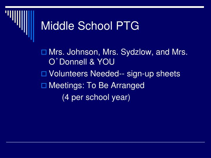 Middle School PTG