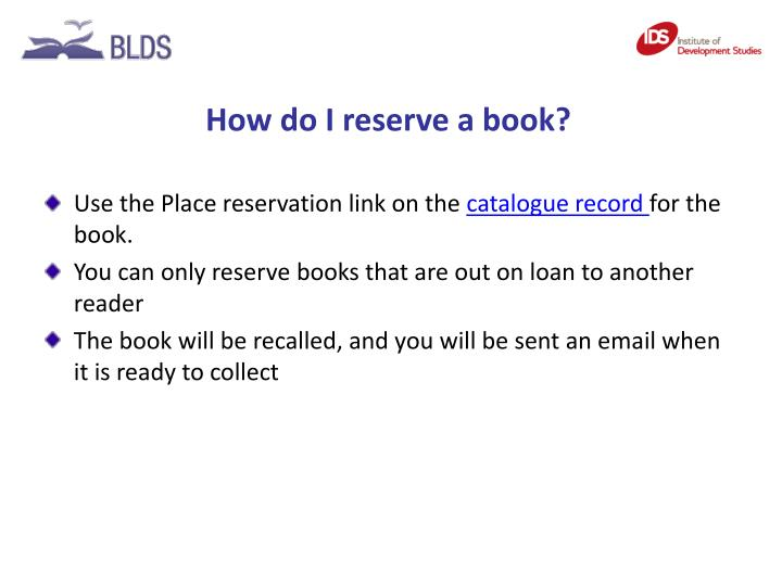 How do I reserve a book?
