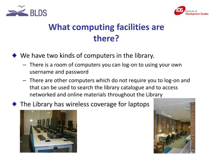 What computing facilities are