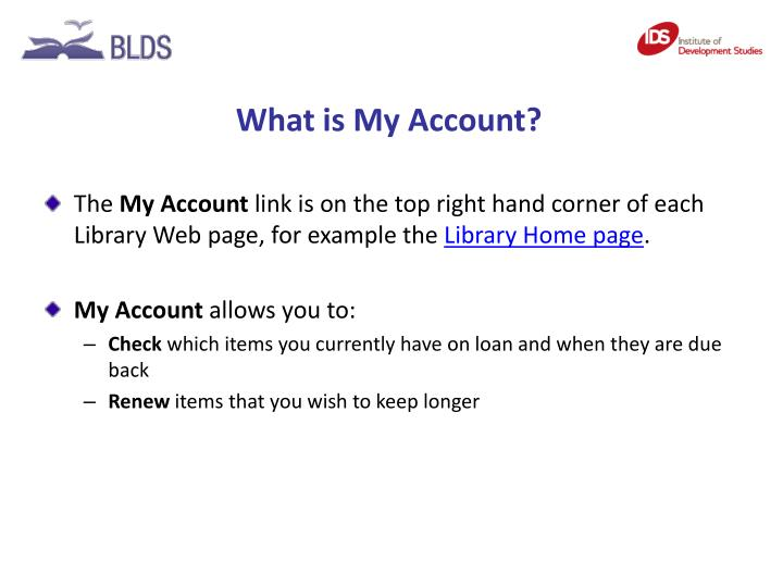 What is My Account?
