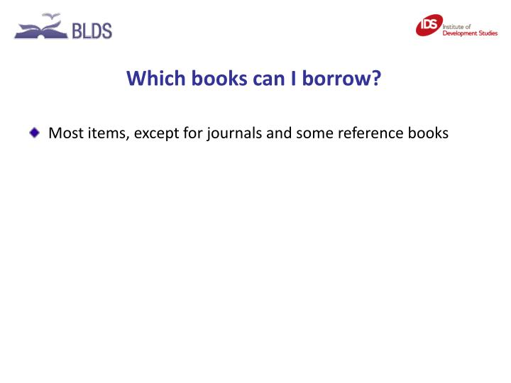 Which books can I borrow?