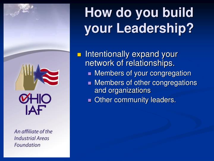 How do you build your Leadership?