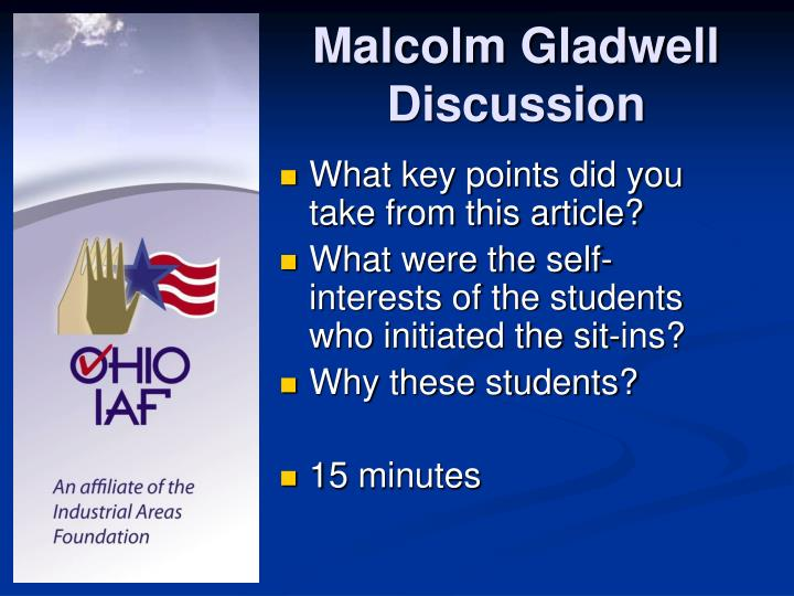Malcolm Gladwell Discussion