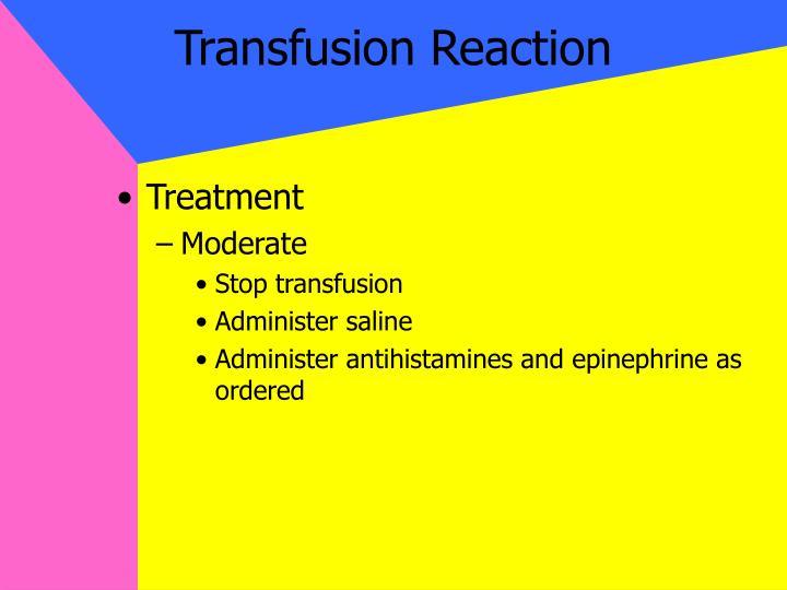 Transfusion Reaction