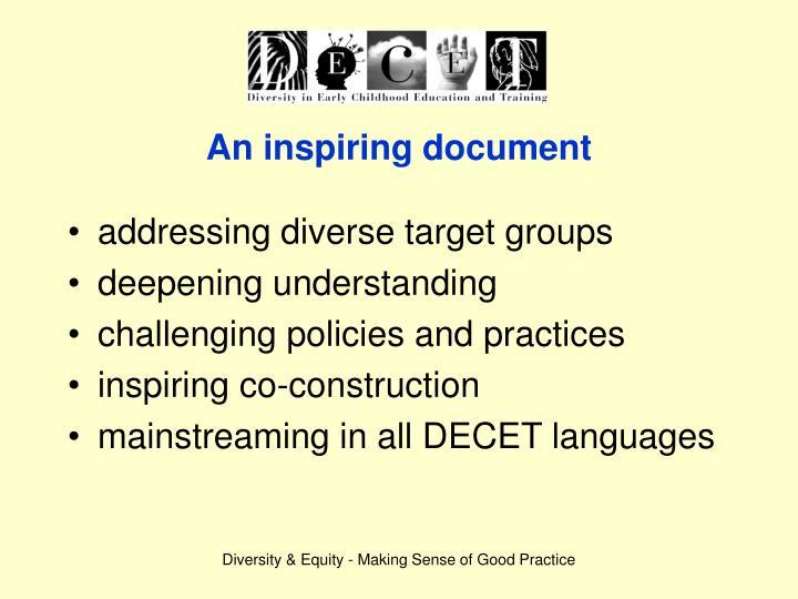 An inspiring document