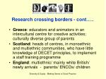 research crossing borders cont