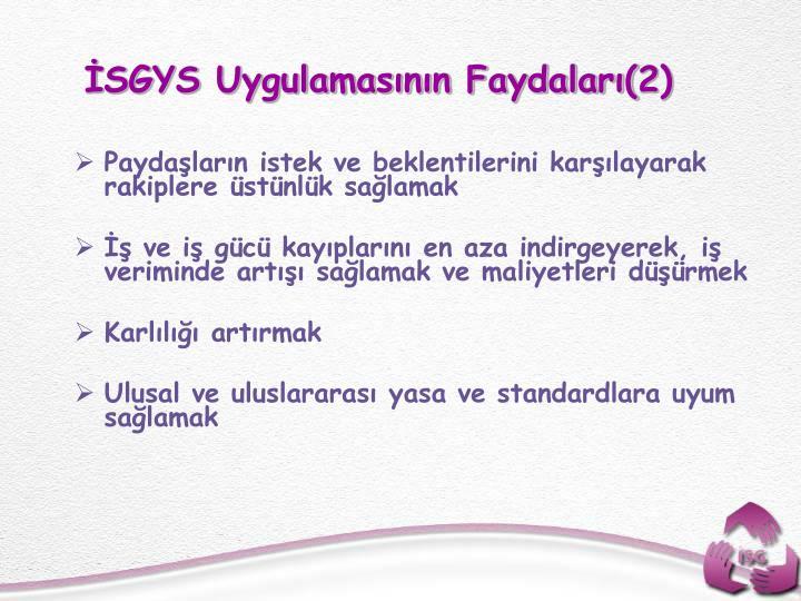 SGYS Uygulamasnn Faydalar(2)