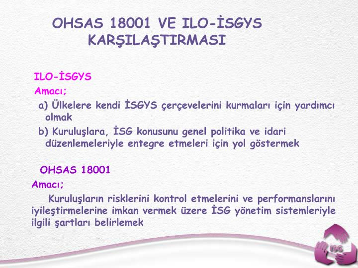 OHSAS 18001 VE ILO-SGYS KARILATIRMASI