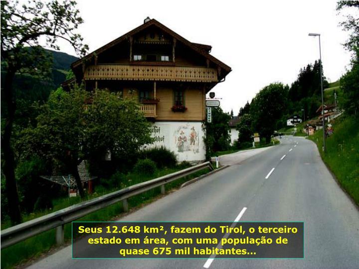 Seus 12.648 km², fazem do Tirol, o terceiro estado em área, com uma população de quase 675 mil habitantes...