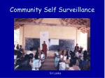 community self surveillance
