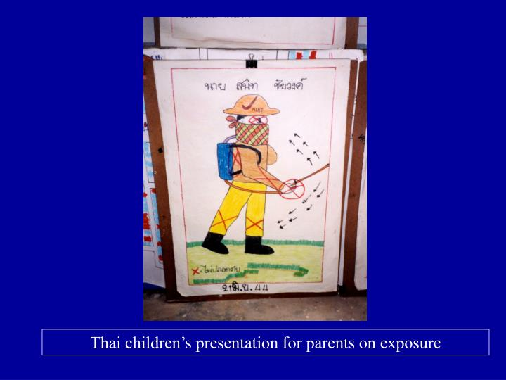 Thai children's presentation for parents on exposure