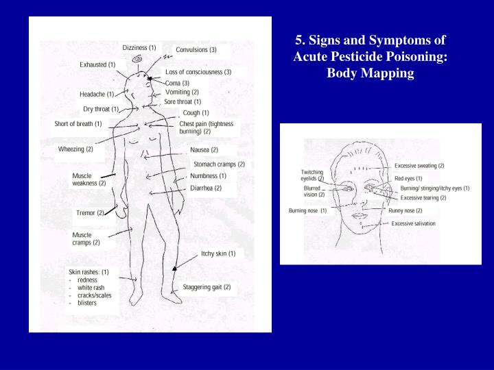 5. Signs and Symptoms of Acute Pesticide Poisoning: Body Mapping