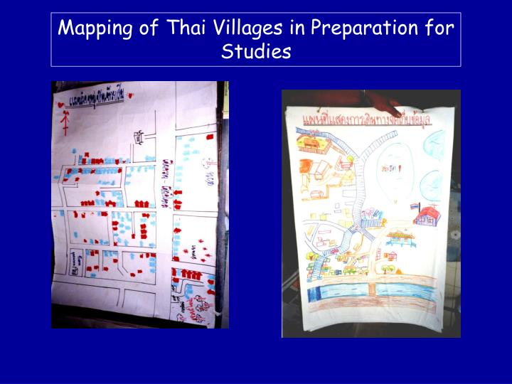 Mapping of Thai Villages in Preparation for Studies