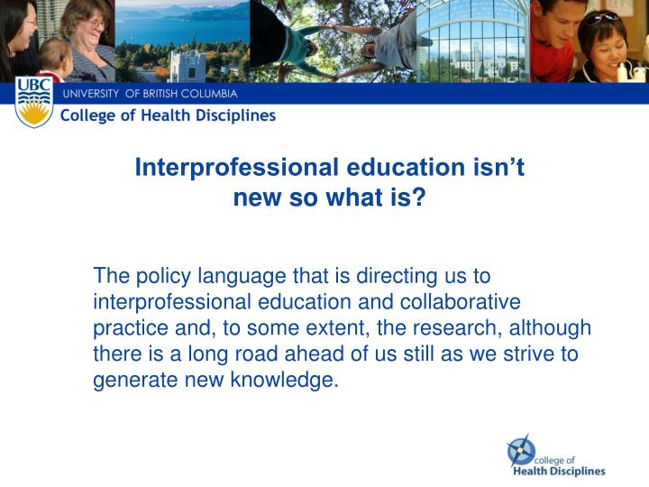 Interprofessional education isn't