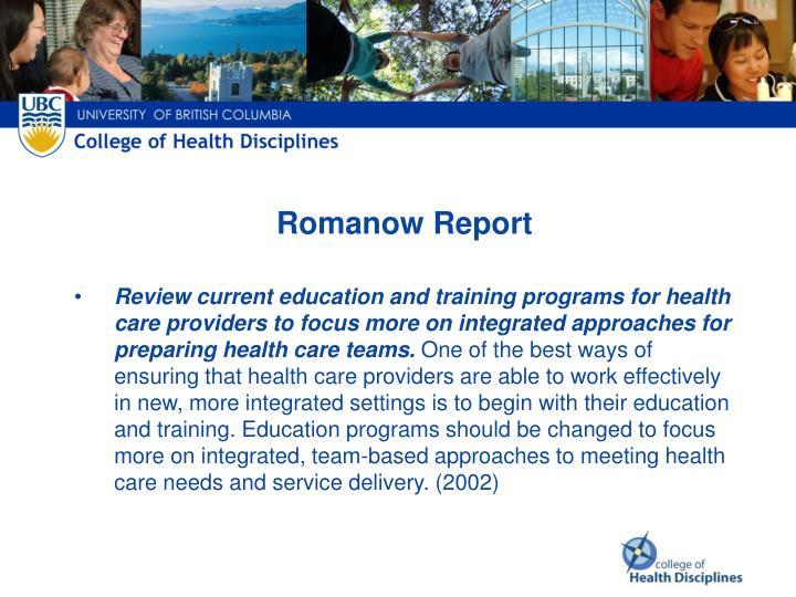 Romanow Report