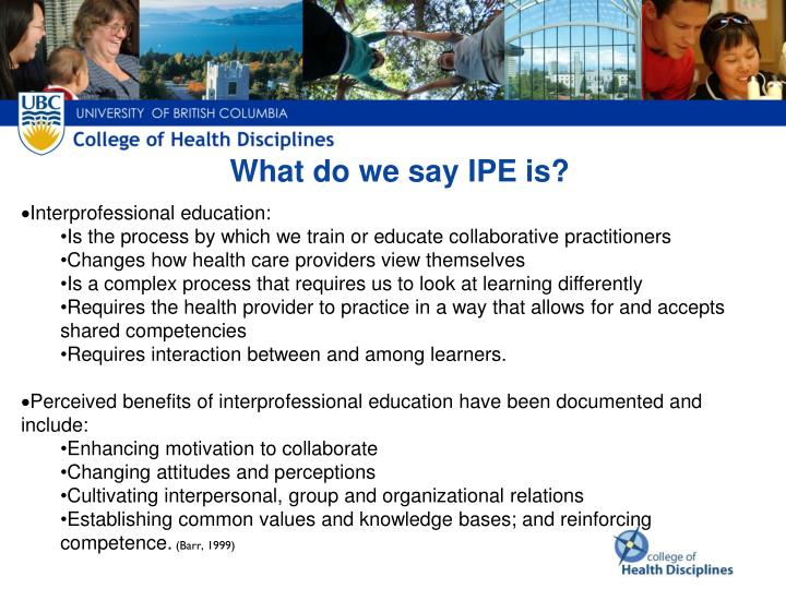 What do we say IPE is?