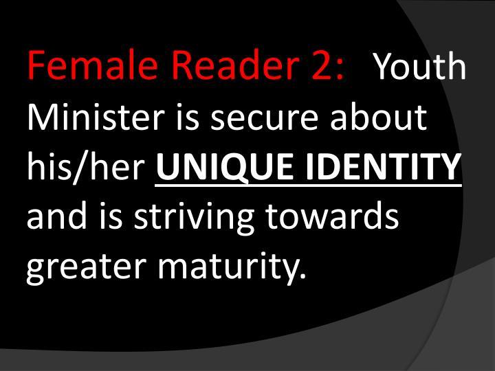 Female Reader 2: