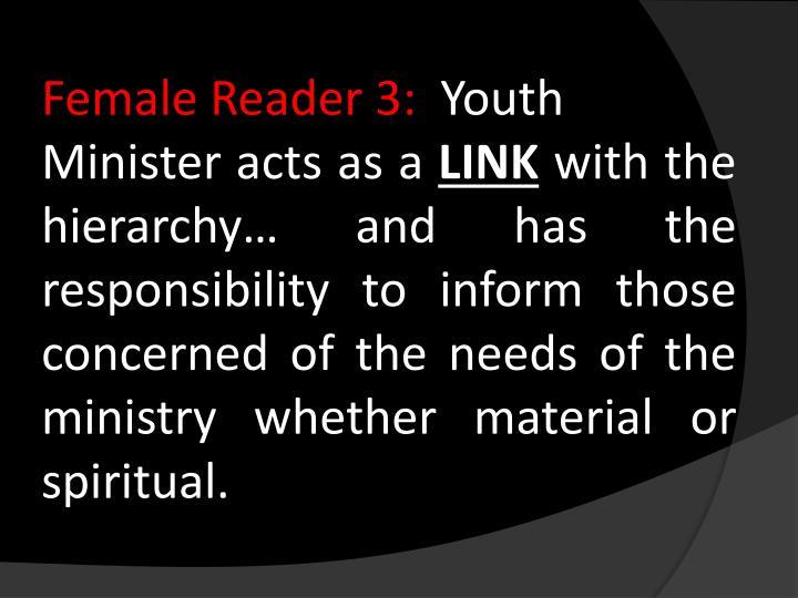 Female Reader 3: