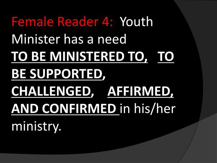 Female Reader 4: