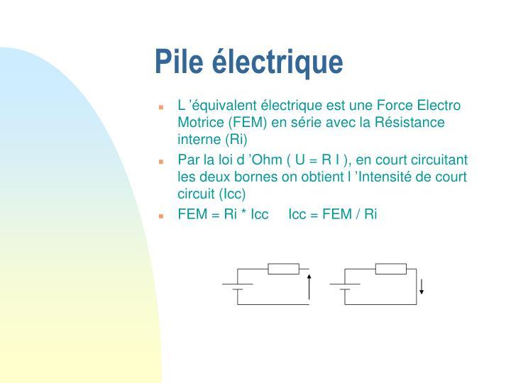 Pile électrique