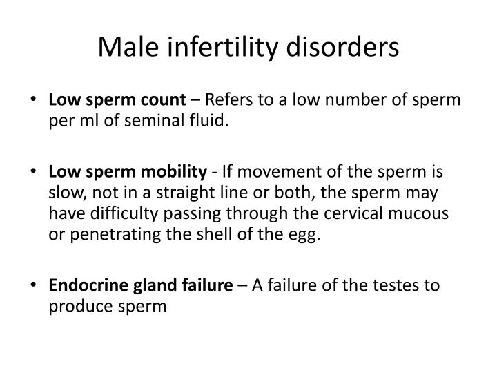 Male infertility disorders